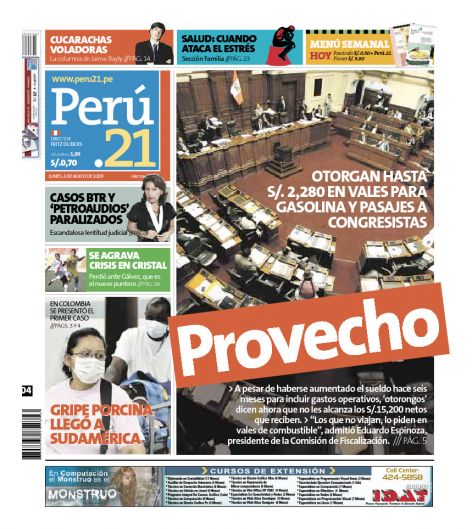 Portada Per 21 04/04/2009